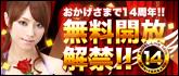 おかげさまで14周年!無料開放解禁!!