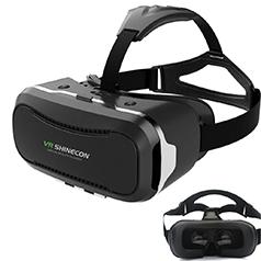 Hqing VRメガネ 3D スマホ ゲーム 映画 ビデオ ゴーグル 超3D映像効果 仮想現実 頭部装着 4.6インチのAndroidやIOSスマホ適用 G-VR002 (黒 二代)