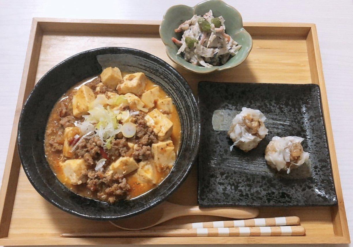 今日の夜ご飯は麻婆豆腐ですヘルシーに...(…