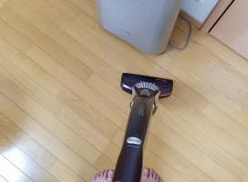 家の中を掃除機かけたよ!