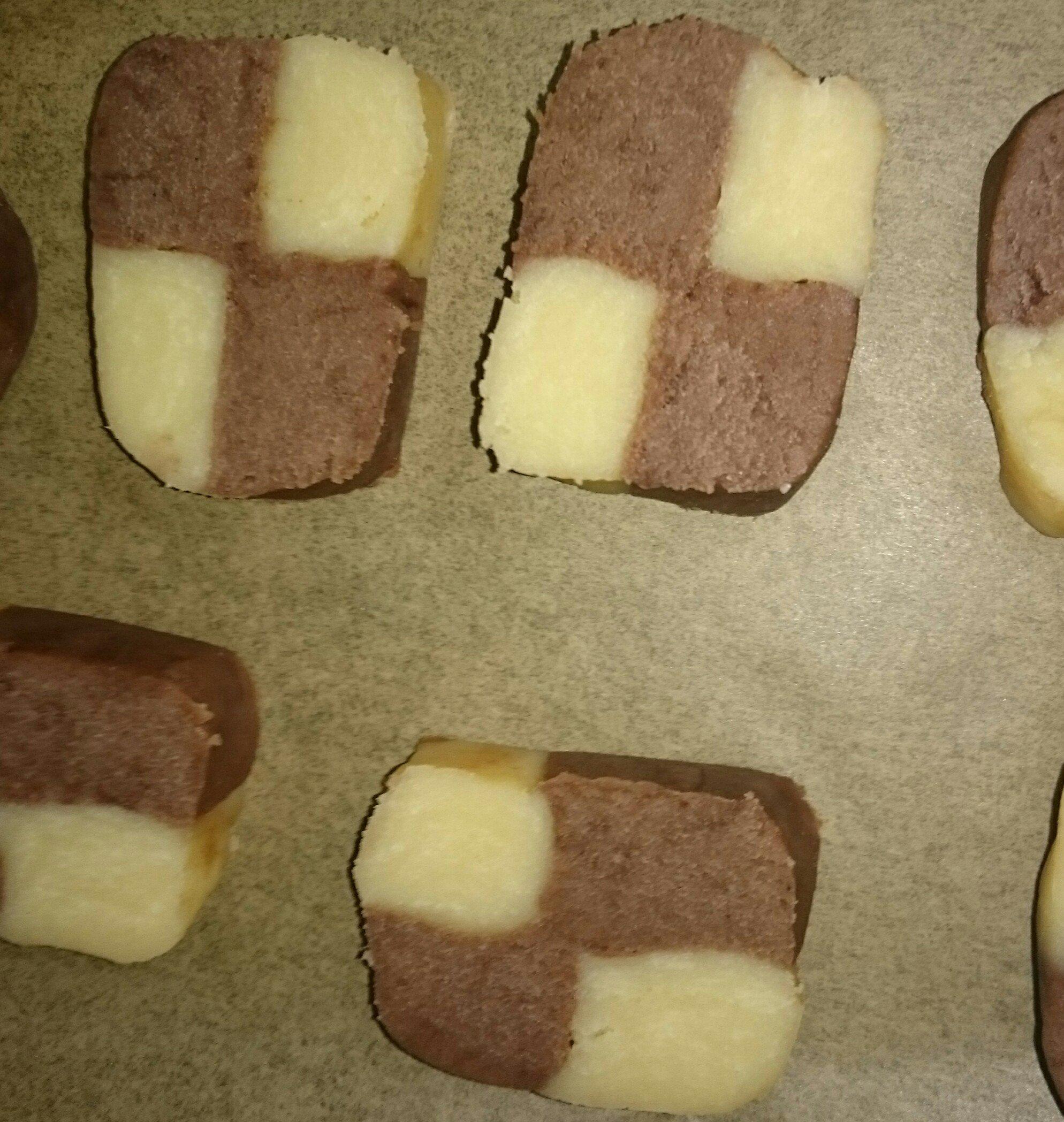 画像はあいが作ったアイスボックスクッキー焼く前の写メだよ☆木…