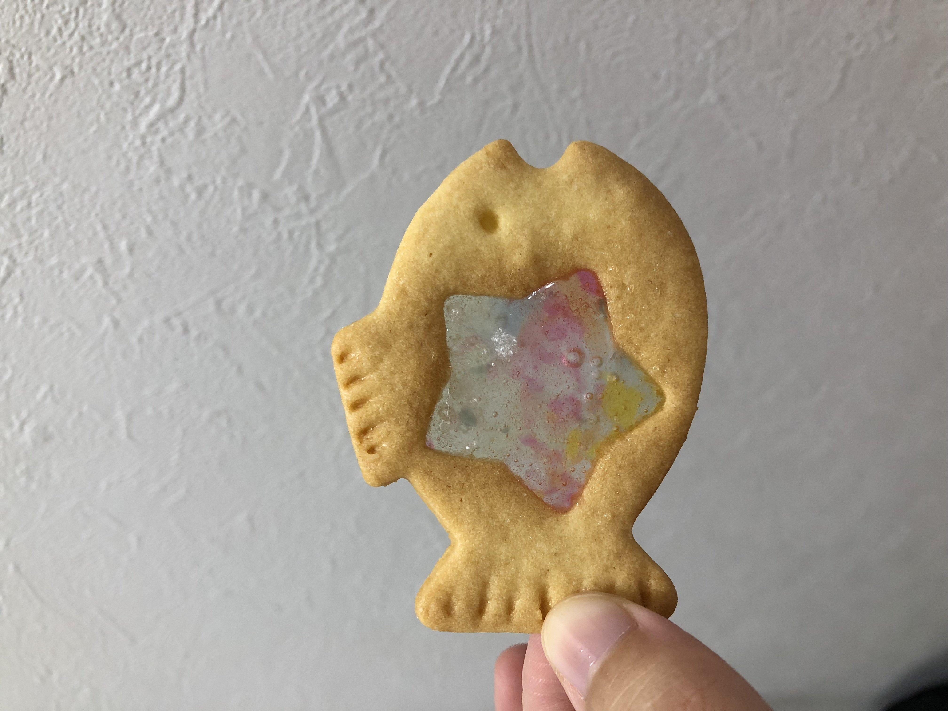 こんなクッキー買いました!手作り☆ステンドグラスクッキーと言…