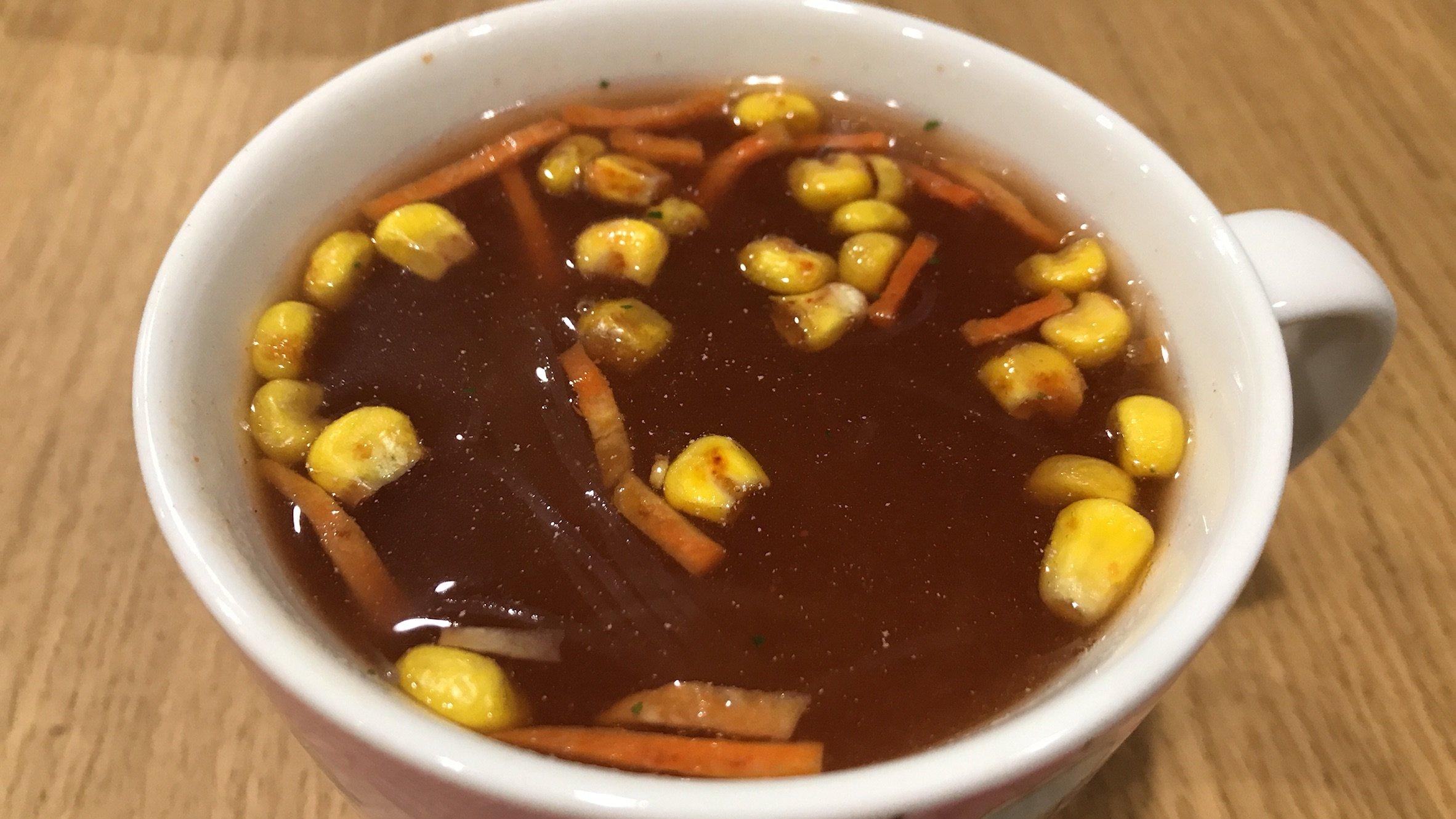 いっただきまーすΨ( ч♡ )ミネストローネ風の春雨スープ!…