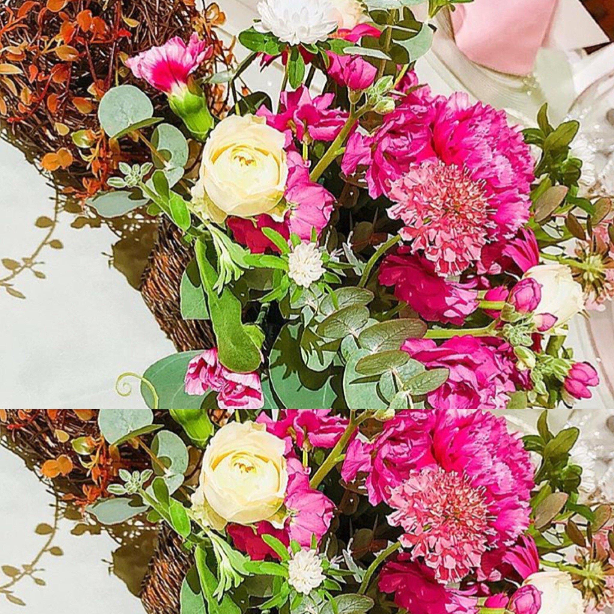 週末、友人の結婚式がありました♪テーブルのお花お持ち帰り&#98…