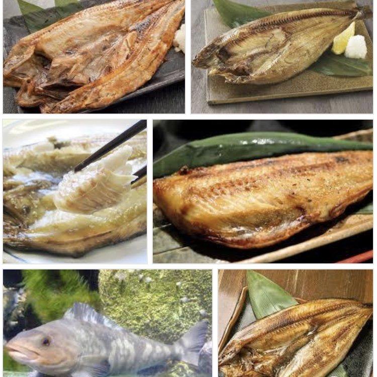 夕飯:ホッケの開き、鯖の塩焼き、お刺身盛り合わせ、ほうれん草…