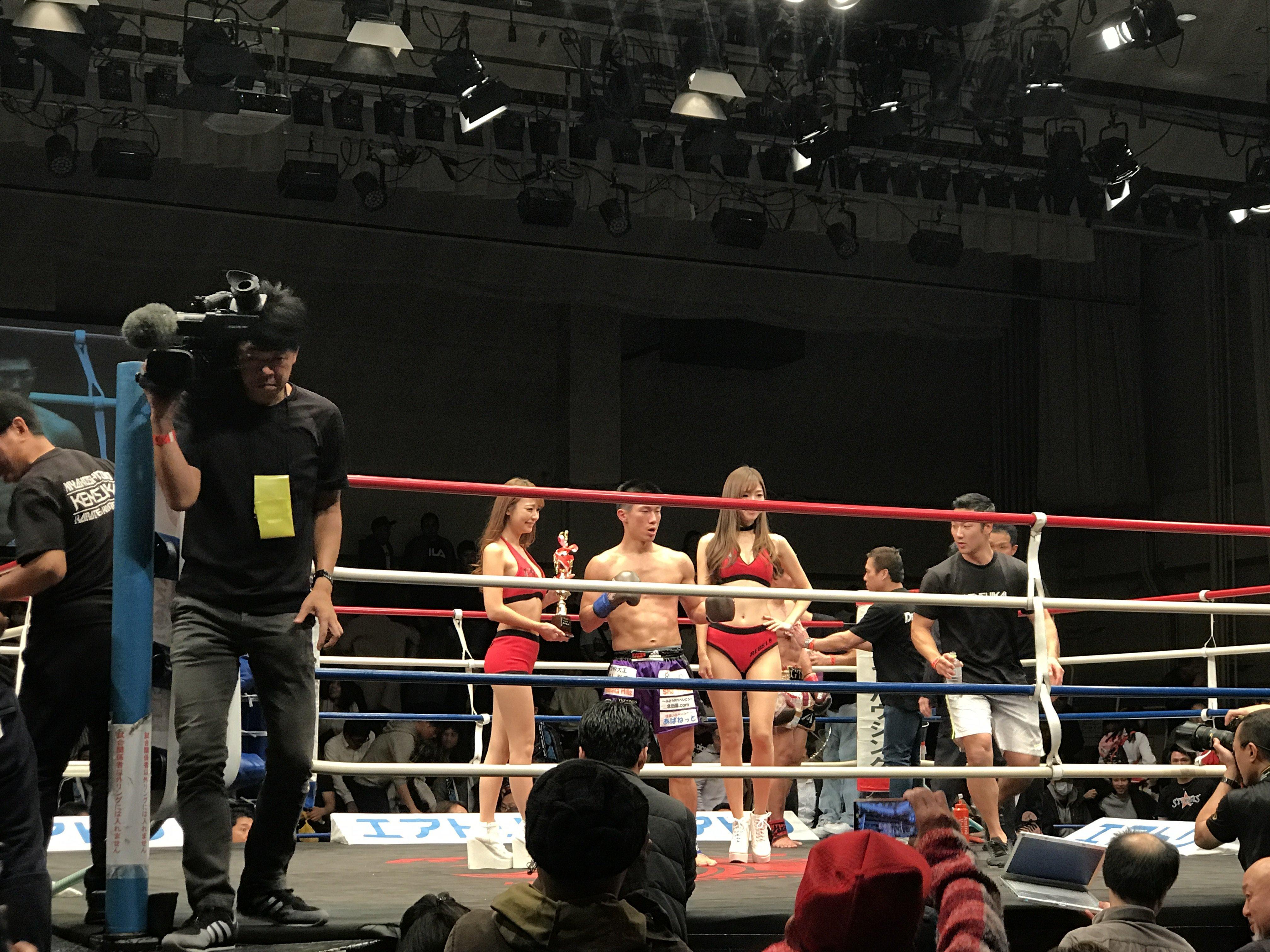 昨日キックボクシング初めて観にいきました☆諦めずに最後まで戦…