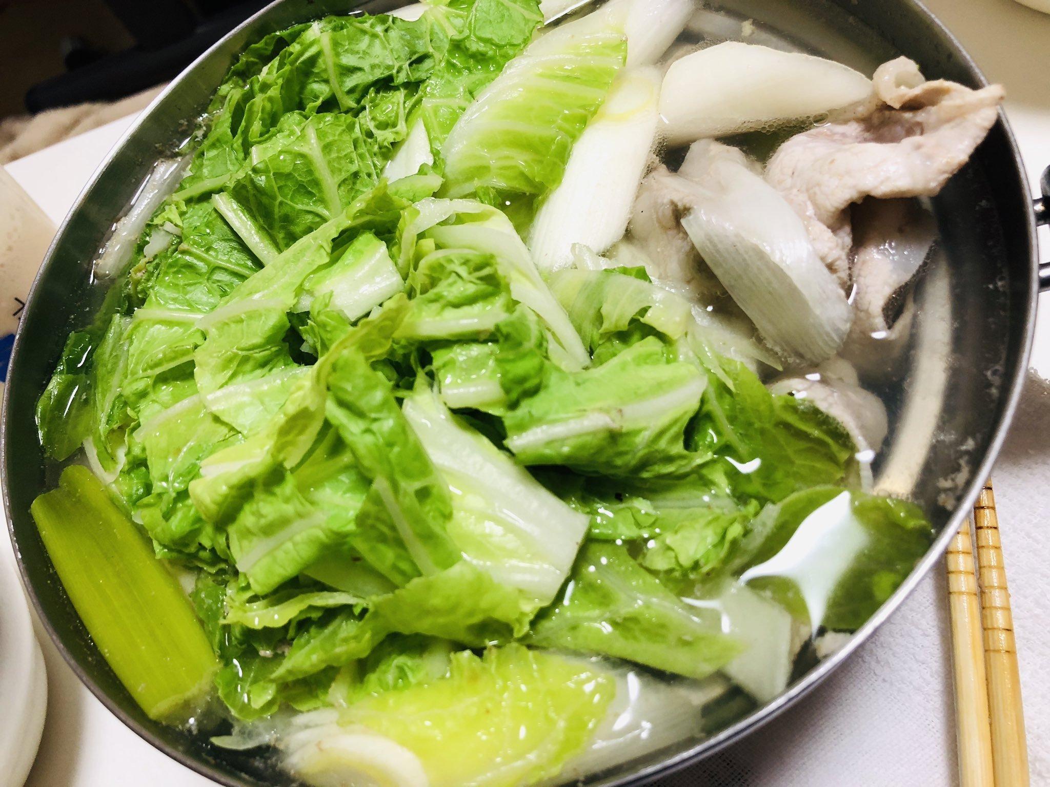 最近太り過ぎなので←ヘルシーな鍋にしてみました(*^◯^*)新年会…