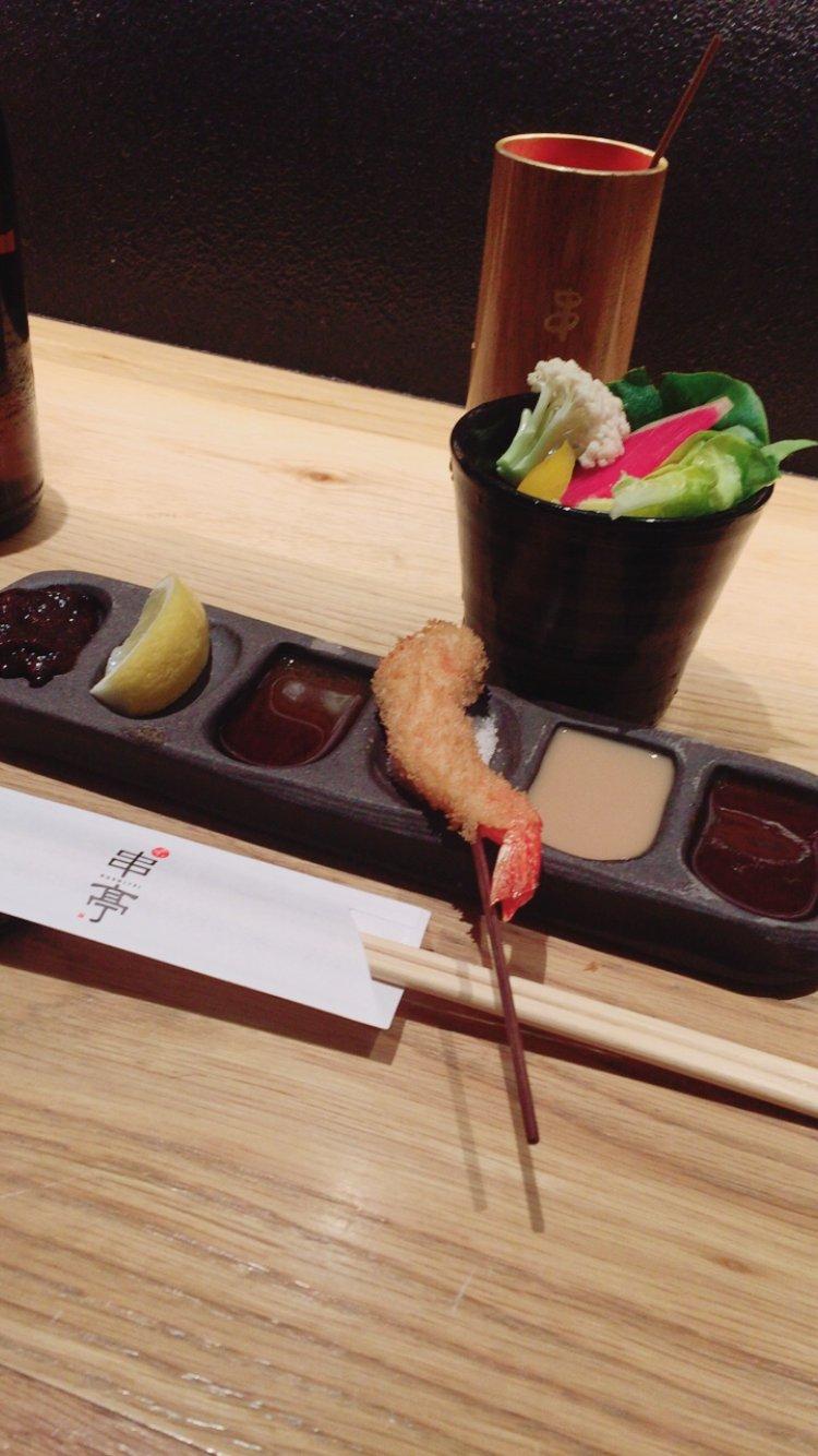 今日は会社の人と串屋さんに行ってきたよーo(・x・)/味噌カツしか…