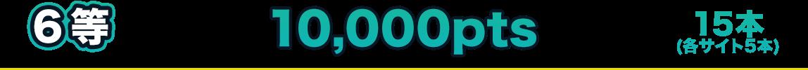 6等 10,000pts 15本(各サイト5本)