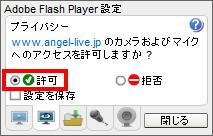FlashPlayer設定