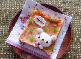 みなさん、おはようございます♪定番のくまさんトーストです。今…