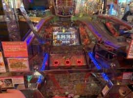 ゲームセンターのコインゲームで、ジャックポット…2回出た€…