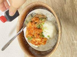 昨日の夜ご飯⭐豆腐丼だよ〜今日で6連勤終わり╰(*´…