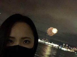 おはよ!シロです!横浜中華街の感想?今年初の花火を見ました〜…