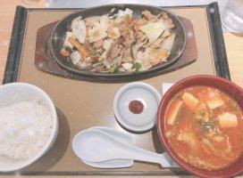 今日のお昼ご飯🍽ご飯2杯食べた😂
