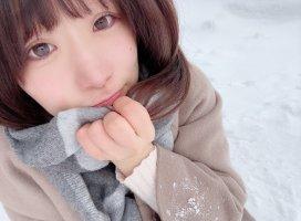 寒くてさむくて鼻赤い( ・᷄-・᷅ )初めて外で撮ったさ…
